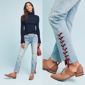 Pilcro And The Letterpress Velvet Laced Jeans 26